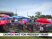 Crowds gather as President Trump, VP Pence make campaign rallies in NC