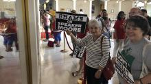 IMAGE: Anger over House budget veto override spills into second day