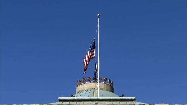 Flags at half staff on Capitol