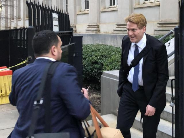 North Carolina's largest political donor, Greg Lindberg, leaves his federal bribery trial in Charlotte Feb. 26, 2020.<br/>Photographer: Travis Fain
