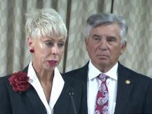 Beth Wood speaks to Senate committee