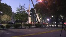 IMAGES: Work to remove 75-foot tall Confederate monument at State Capitol postponed