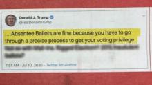 IMAGES: GOP mailer pitches voting by mail despite president's 'Rigged Election!!!' rhetoric