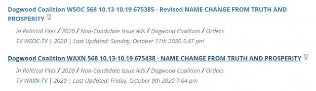 Dogwood Coalition FCC filings