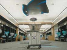 Light Strike robot uses UV light to kill of coronavirus in Carolina Panthers facility