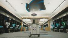 IMAGES: Carolina Panthers use UV light to kill off coronavirus in stadium