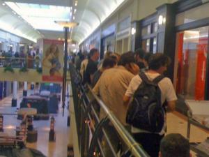 iPhone buyers lined up at Crabtree Valley Mall in Raleigh Thursday.