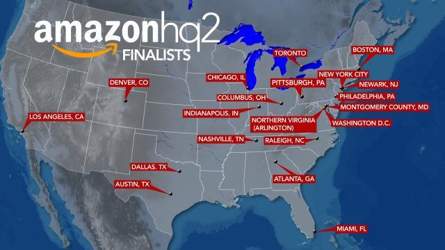 In wooing amazon north carolina offers hbcus as diversity fix amazon hq2 map gumiabroncs Choice Image