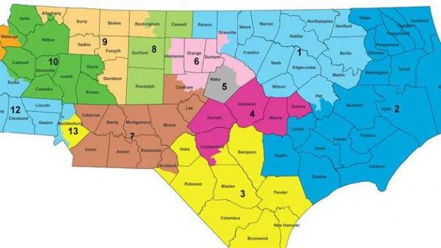 Independent congressional redistricting simulation map developed by nonpartisan panel of jurists brought together by Duke University and Common Cause North Carolina.