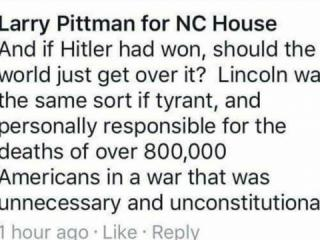 Rep. Larry Pittman Facebook post