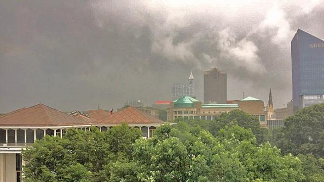 Clouds over Capitol complex, Raleigh, via Rep. Nelson Dollar Twitter post