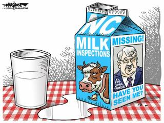 DRAUGHON DRAWS: Have you seen this N.C. milk inspector?