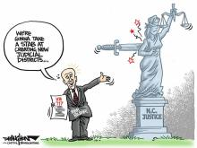 DRAUGHON DRAWS: Rep. Burr takes 'stab' at judicial gerrymandering