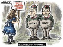 DRAUGHON DRAWS: U.S. Senate Health Care Bum & Bummer