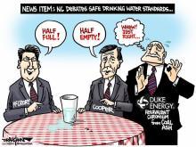 DRAUGHON DRAWS: Two views of same safe water standard