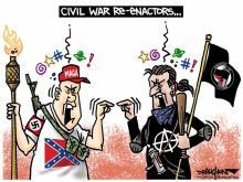 DRAUGHON DRAWS: Civil War Re-enactors