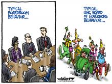 DRAUGHON DRAWS: UNC Board of Governors' clowning around