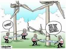 DRAUGHON DRAWS: Legislative leaders find way to stop Amazon's eastern N.C. wind farm