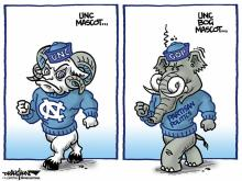 DRAUGHON DRAWS: Mascot emerges from hyper-partisan UNC Board of Governors