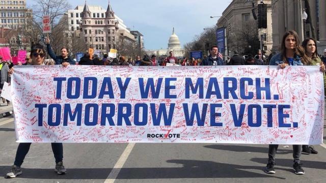 Rock-the-Vote  -- Washington March 24, 2018 rally