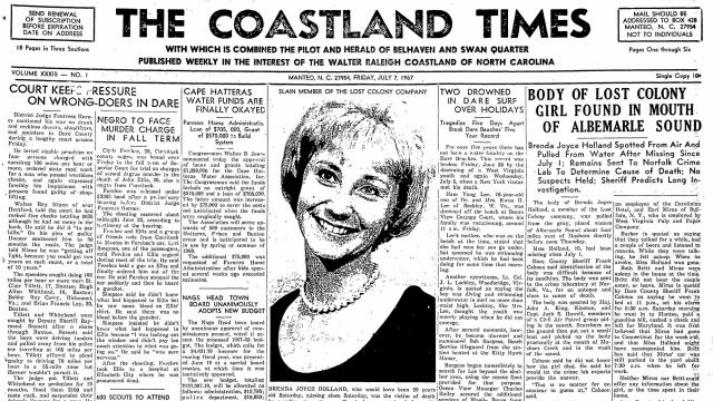 07-07-1967 front page of The Coastland Times