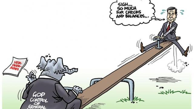 Monday, July 30, 2018 -- Capitol Broadcasting's editorial cartoonist.