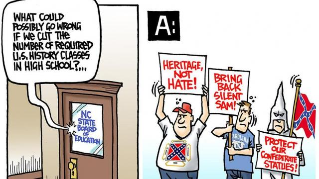 Monday, Jan. 20, 2020 -- Capitol Broadcasting Company's editorial cartoonist.