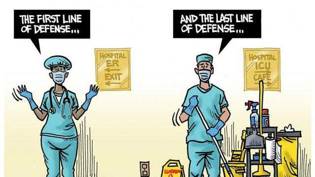 DRAUGHON DRAWS: Doing the jobs that make sure others can do their best