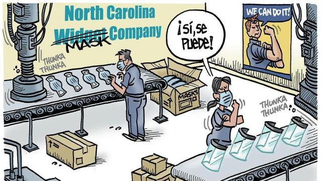 DRAUGHON DRAWS: N.C. Businesses and workers answer the call