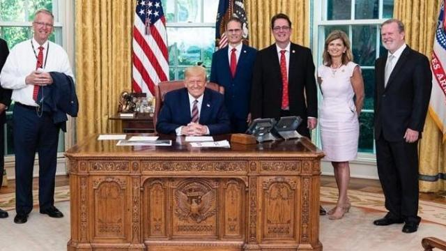 N.C. Republican legislators meet with President Trump at the White House July 17, 2020 (White House photo)