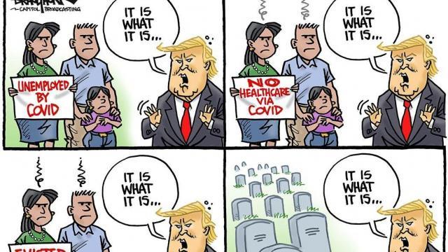 Monday, Aug. 10, 2020 -- Capitol Broadcasting Company's editorial cartoonist.