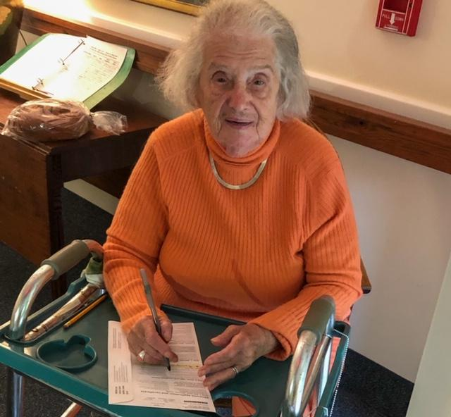 Not in a voting booth, still Mom casts 19th consecutive presidential ballot