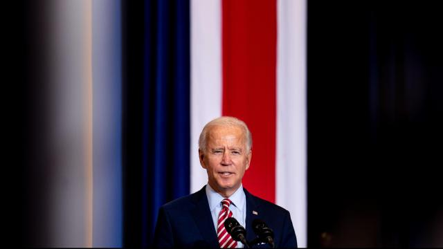 """FILE - Democratic presidential nominee Joe Biden speaks at a campaign event in Kissimmee, Fla., Sept. 15, 2020. """"As Biden would say: The Democratic presidential nominee is at his best when making a virtue of the rough edges of his humanity. Embracing a lifelong struggle to overcome a stutter, and the stumbles that have happened along the way, Uncle Joe is a hard man to dislike,"""" The New York Times contributing opinion writer Timothy Egan writes. (Erin Schaff/The New York Times)"""