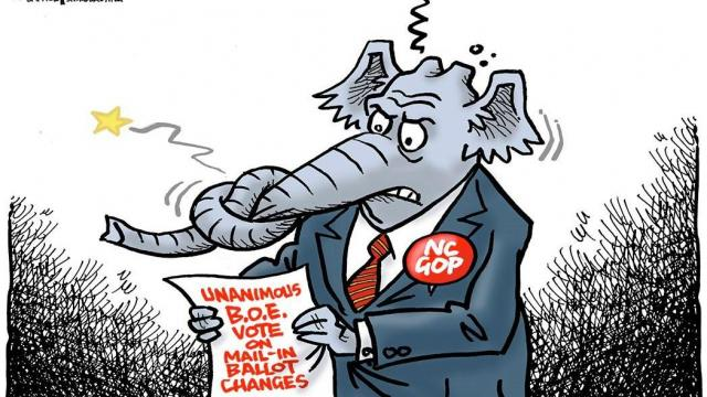 Monday, Sept. 28, 2020 -- Capitol Broadcasting Company's editorial cartoonist.