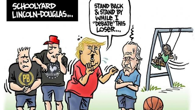 Thursday, Oct. 1, 2020 -- Capitol Broadcasting Company's editorial cartoonist.