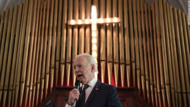 Democratic presidential candidate former Vice President Joe Biden speaks at the Brown Chapel AME Church on March 1, 2020 in Selma, Alabama.