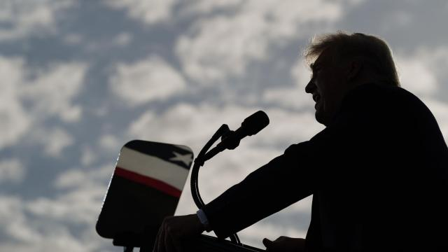 """President Donald Trump speaks during a campaign event in The Villages, Fla., Oct. 23, 2020. """"Donald Trump lies a lot. In fact, he lies so often that several media organizations try to keep a running tally, and even try to draw political inferences from fluctuations in the number of lies he tells in a given month (although the trend has been relentlessly upward),"""" writes The New York Times columnist Paul Krugman. (Anna Moneymaker/The New York Times)"""