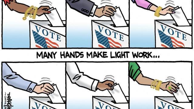 Monday, Nov. 2, 2020 -- Capitol Broadcasting Company's editorial cartoonist.