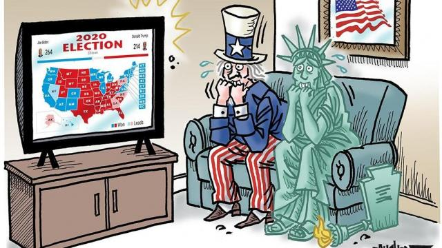 Thursday, Nov. 5, 2020 -- Capitol Broadcasting Company's editorial cartoonist.