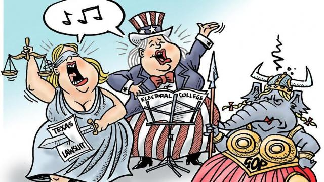 Monday, Dec. 14, 2020 -- Capitol Broadcasting Company's editorial cartoonist.