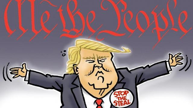 Thursday, Jan. 7, 2021 -- Capitol Broadcasting Company's editorial cartoonist.