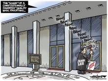 DRAUGHON DRAWS: Not so gently rapping, rapping on legislature's chamber doors