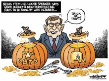 DRAUGHON DRAWS: State budget by Halloween?
