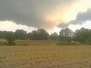 A tornado touched down in Lillington on Friday, Sept. 14, 2007. (Photo courtesy of Keith Raynor)
