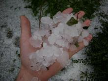 Photos of severe weather on Oct. 1, 2008.