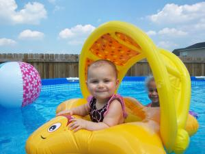 madison's first swim