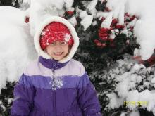 Six Year Old Florida Girl Sees First Snow
