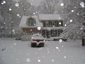 Our cute little house in this beautiful snow! :)
