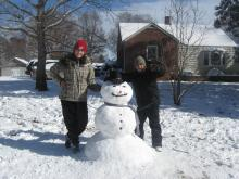 Janson and Avery 2010 snowman from Henderson