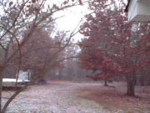North Carolina saw some snow on Jan. 8, 2011.
